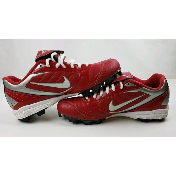 Nike Other - Nike  Power Channel Baseball Cleats Size 8   Red